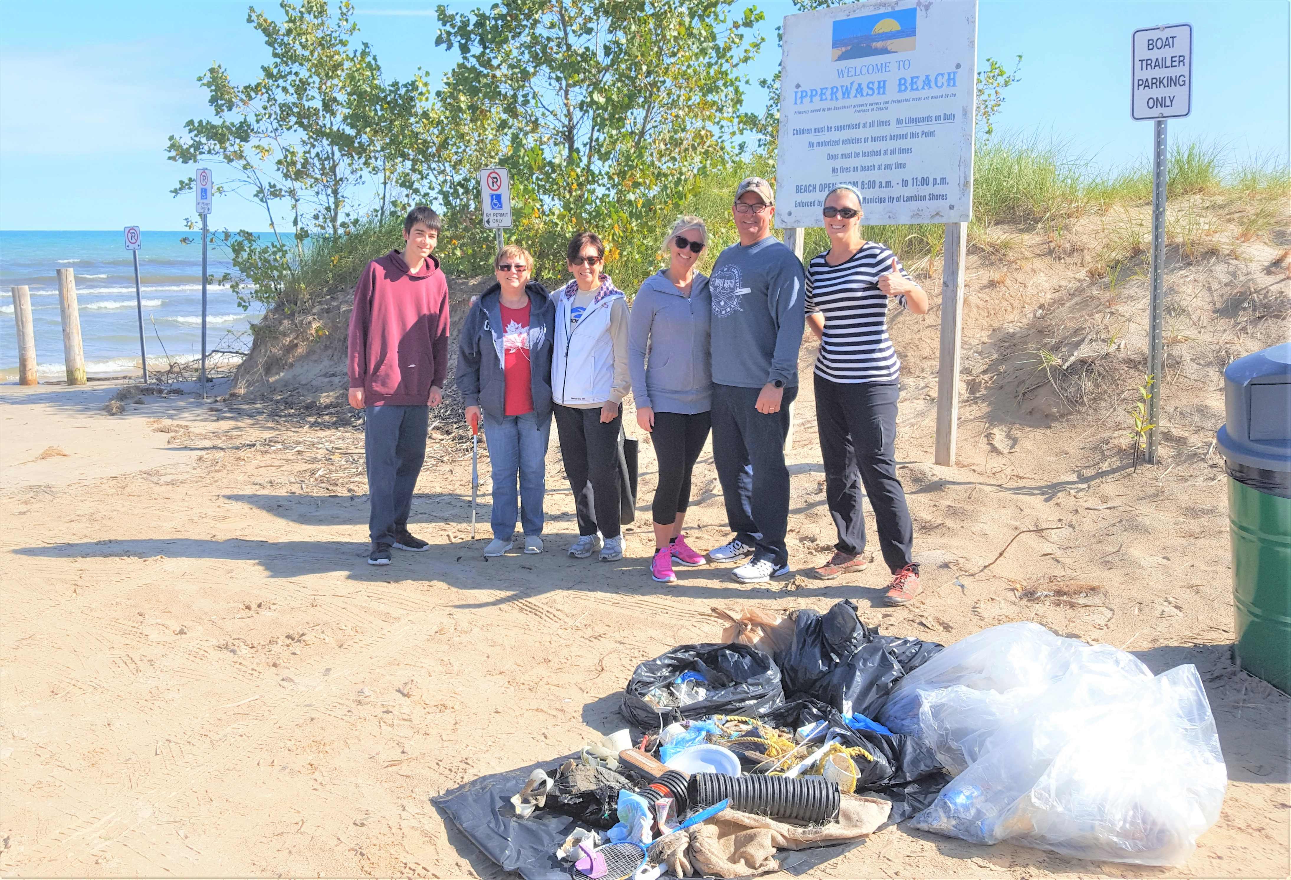 Thanks to these volunteers who care about their beach and their Lake Huron water!